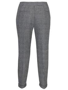 Sivo-čierne vzorované nohavice VERO MODA Joyce