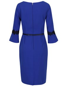 Modré šaty s opaskom Paper Dolls