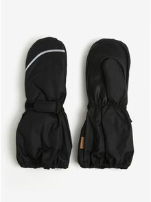 Černé dětské voděodolné funkční zateplené palčáky s příměsí vlny Reima Tomino