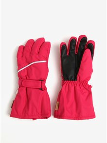 Ružové dievčenské vodovzdorné funkčné zateplené rukavice s prímesou vlny Reima Harald