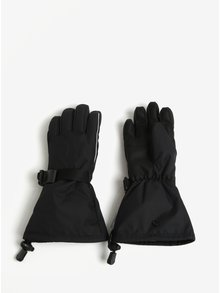 Čierne detské vodovzdorné funkčné zateplené rukavice Reima Saariselka