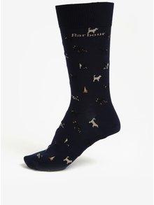 Tmavě modré pánské ponožky se psy Barbour Mavin