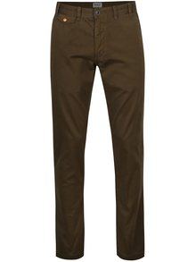 Kaki chino regular fit nohavice Barbour Neuston Twill