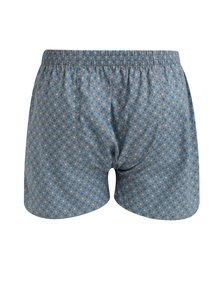 Boxeri gri din bumbac cu buline pentru barbati - El.Ka Underwear