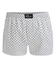 Bílé pánské trenky s kotvičkami El.Ka Underwear