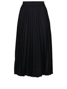 Čierna plisovaná midi sukňa ZOOT