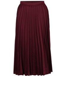 Vínová plisovaná midi sukňa ZOOT