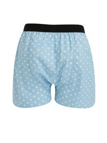 Boxeri bleu cu buline albe pentru barbati - El.Ka Underwear