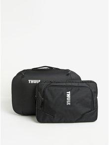 Černá cestovní taška/batoh s taškou na notebook 2v1 Thule Subterra 40 l