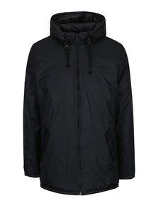 Čierna zimná bunda s kapucňou Blend