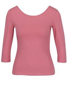 Růžové tričko s kulatým výstřihem ZOOT
