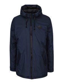 Tmavě modrá zimní bunda s kapucí Blend
