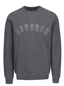 Bluza gri cu print logo Barbour Logo Sweat