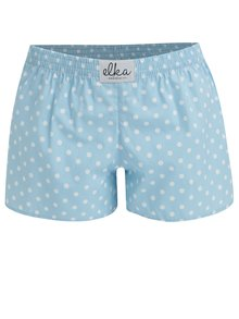Boxeri bleu cu buline pentru femei -  El.Ka Underwear