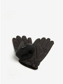 Hnedé kožené rukavice Barbour Burnished