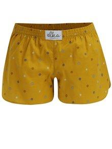 Horčicové dámske bodkované trenírky El.Ka Underwear