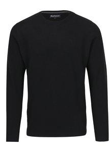 Pulover negru din lana Barbour Essential Lambswool