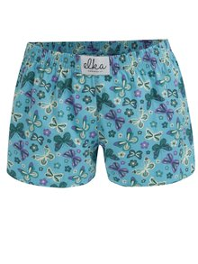 Modré dámske trenírky s motýlikmi El.Ka Underwear
