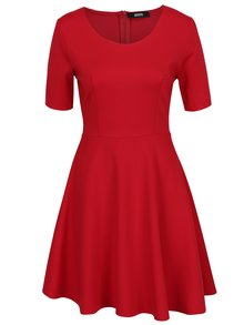 Červené šaty s áčkovou sukní ZOOT