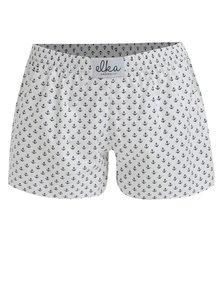 Biele dámske trenírky s kotvičkami El.Ka Underwear