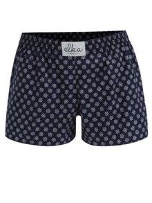 Boxeri bleumarin cu print marinaresc pentru femei - El.Ka Underwear