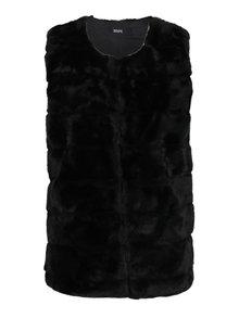 Černá prošívaná vesta z umělé kožešiny ZOOT