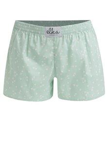 Zelené dámske trenírky s trojuholníkmi El.Ka Underwear