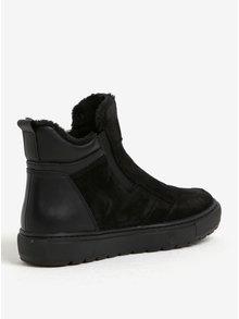 Čierne dámske zimné semišové členkové topánky Geox Breeda