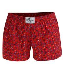 Červené dámské trenky s hvězdičkami El.Ka Underwear