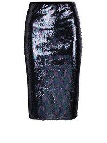 Černo-fialová pouzdrová sukně s flitry Miss Selfridge