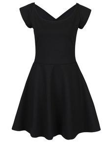 Čierne šaty s pásikmi na chrbte ZOOT