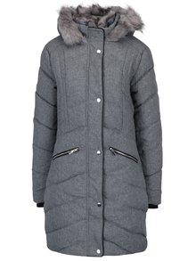 Sivý melírovaný prešívaný zimný kabát Dorothy Perkins