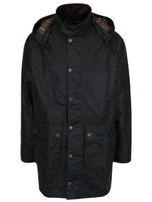 Tmavě zelený povoskovaný zimní kabát Barbour Leighton Wax