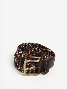 Červeno-hnědý pánský pletený pásek Barbour Tartan