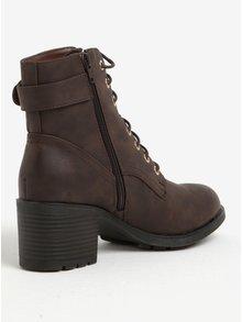 Hnedé členkové topánky Dorothy Perkins