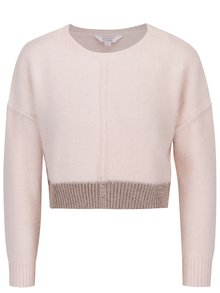 Pulover crop roz pal cu tiv decorativ Miss Selfridge Petites
