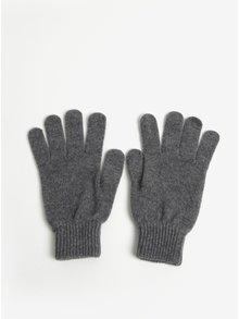 Darčeková súprava vlnených rukavíc a šálu v sivej farbe Barbour Gift Box