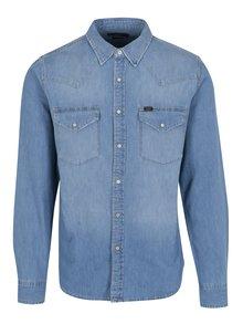 Světle modrá pánská slim fit džínová košile s kapsami Lee