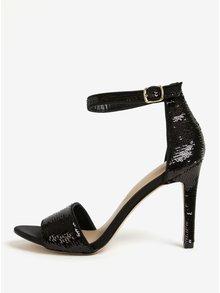 Černé sandálky s flitry ALDO Fiolla