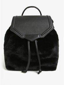 Černý batoh s umělou kožešinou ALDO Gazzone