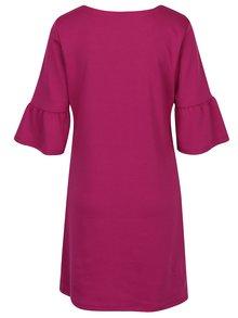 Ružové šaty s volánmi na rukávoch VILA Tinn
