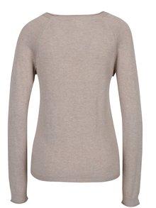 Béžový lehký svetr s volány VILA Esly