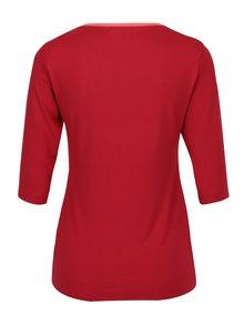 Červené tričko s lodičkovým výstrihom Jana Minaříková