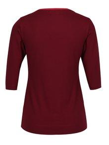 Vínové tričko s lodičkovým výstrihom Jana Minaříková