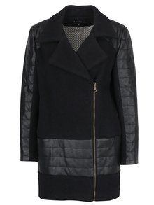 Geaca lunga de iarna din lana si piele sintetica Kvinna