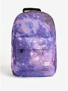 Fialový batoh s motívom galaxie Spiral Galaxy Saturn 18 l