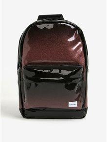 Čierno-hnedý lesklý batoh Spiral Glitter Fade 18 l