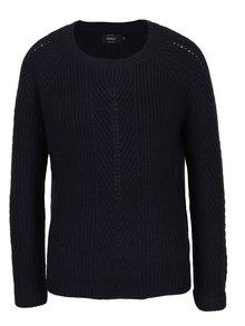 Pulover tricotat bleumarin - ONLY New Jemma