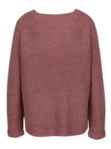 Pulover tricotat roz prafuit - ONLY New Jemma