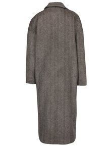 Palton maro cu bej cu model Herringbone Kvinna